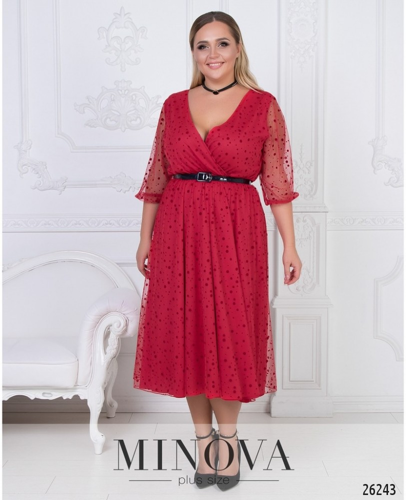 Платье №547-красный