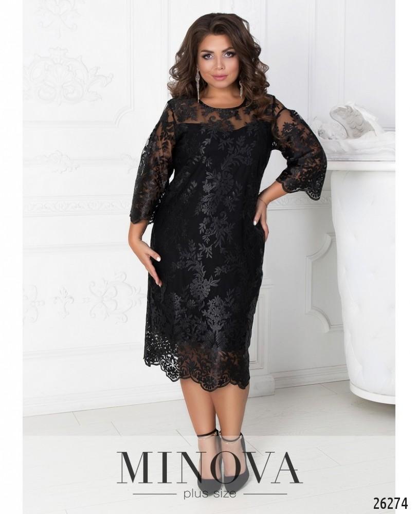 Платье №450А-черный
