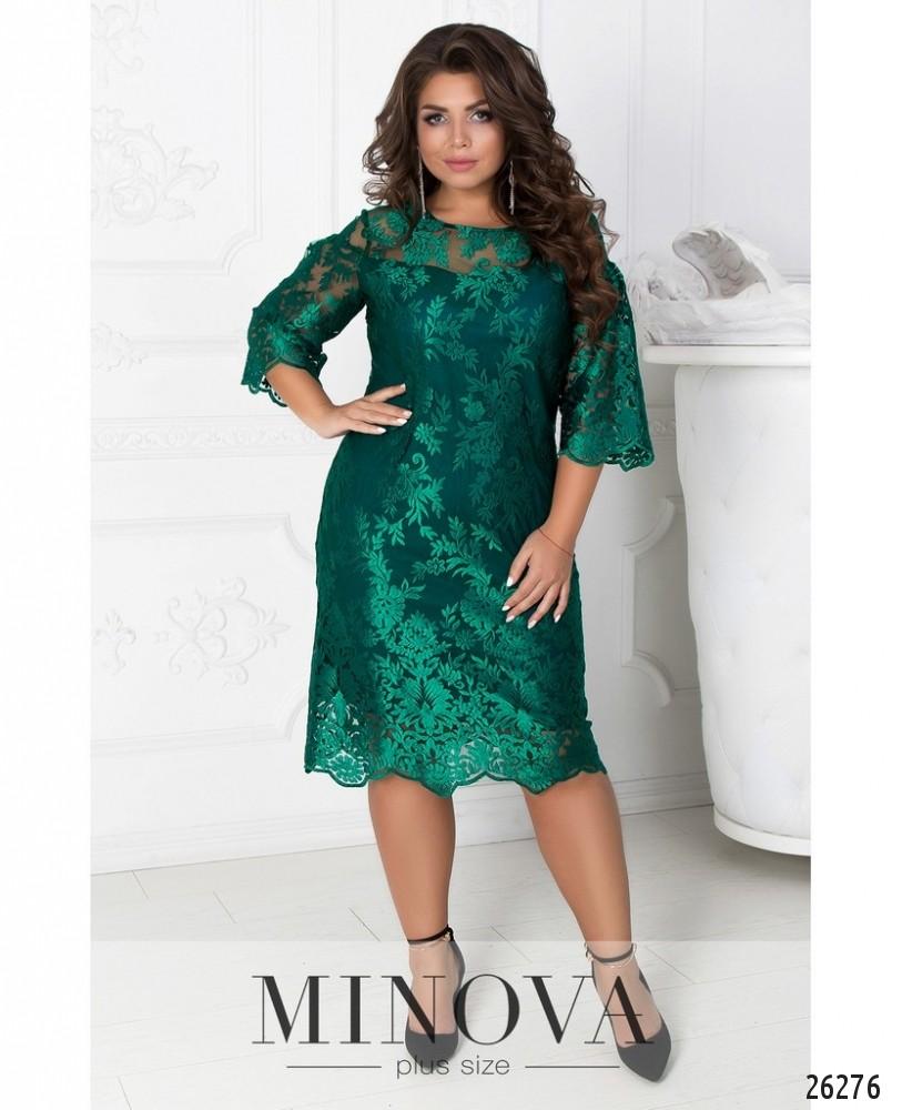 Платье №450А-зеленый