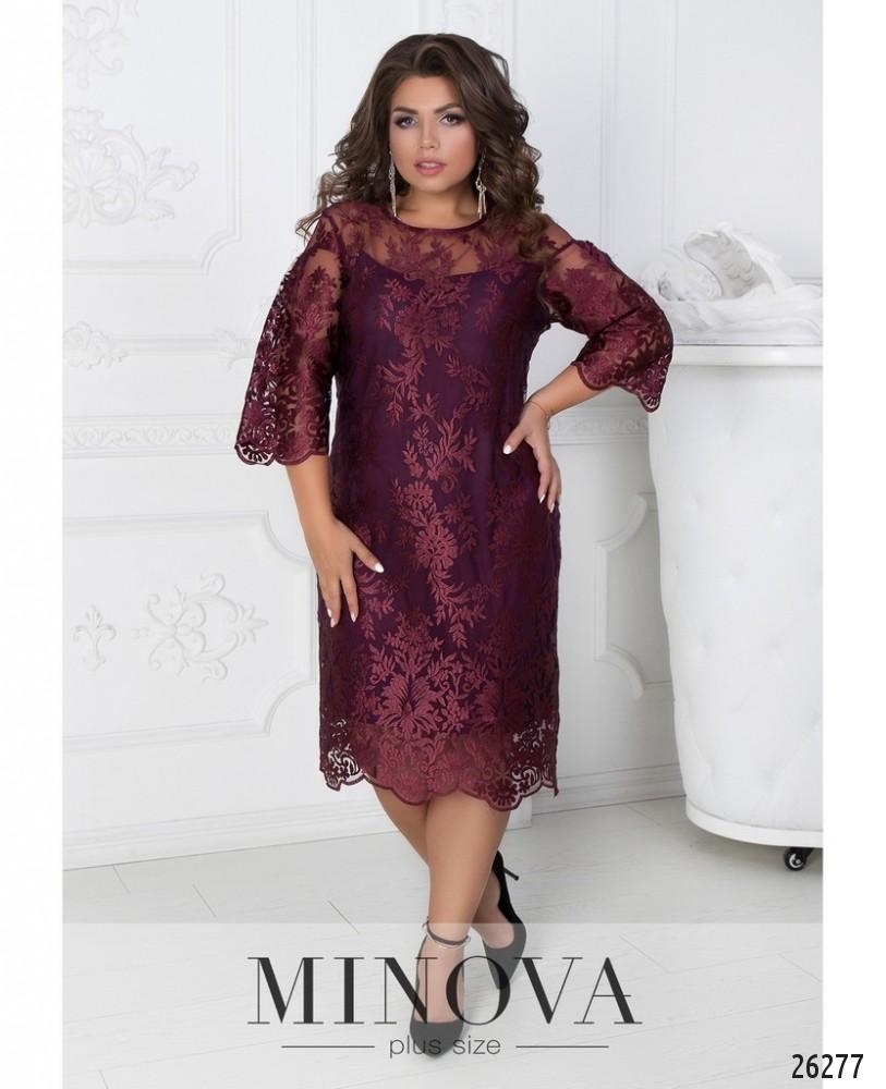 Платье №450А-бордо