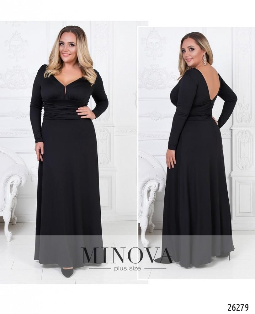 Платье №447А-черный (sale)