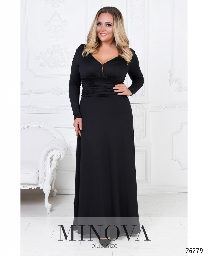 Платье №447А-черный