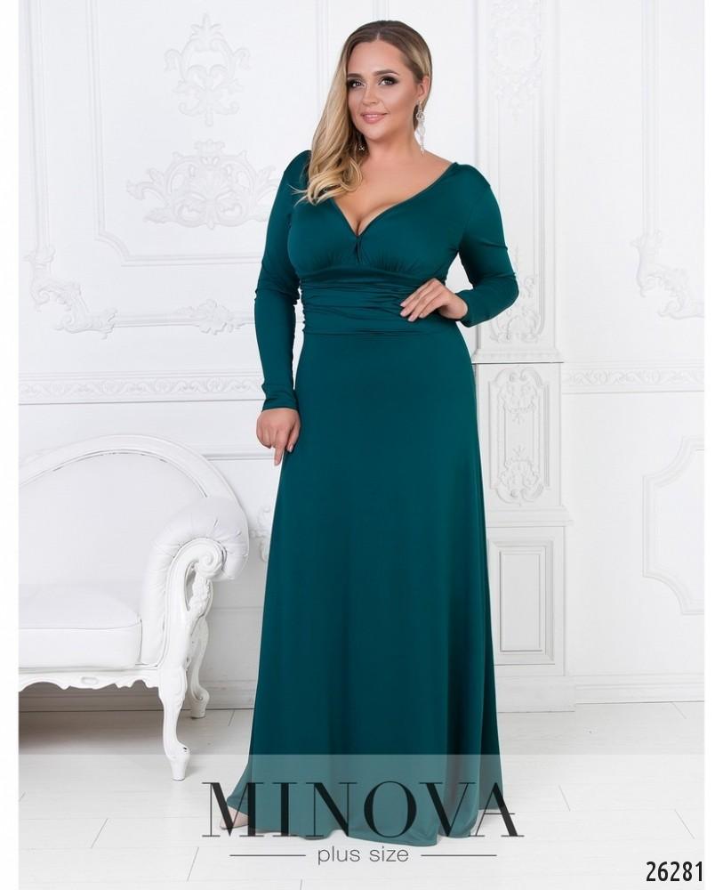 Платье №447А-зеленый