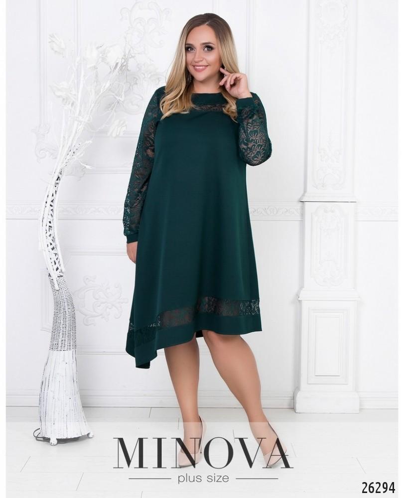 Платье №591-темно-зеленый