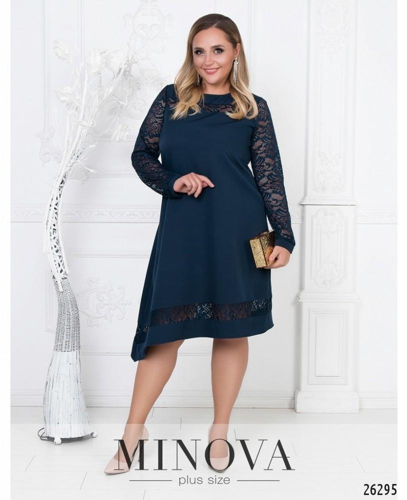 Платье №591-темно-синий