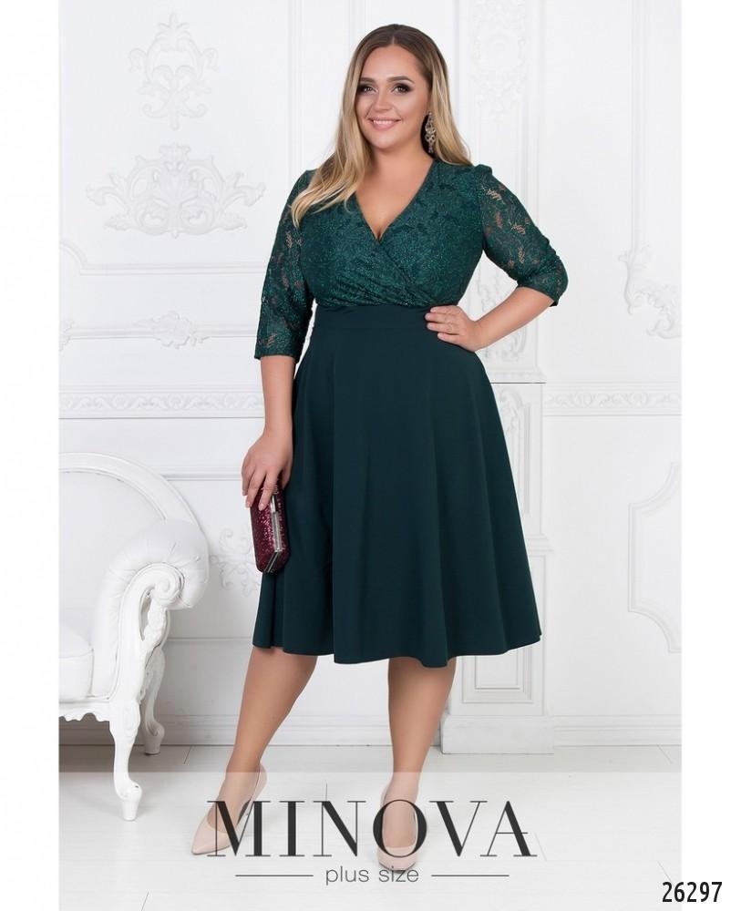 Платье №542-темно-зеленый