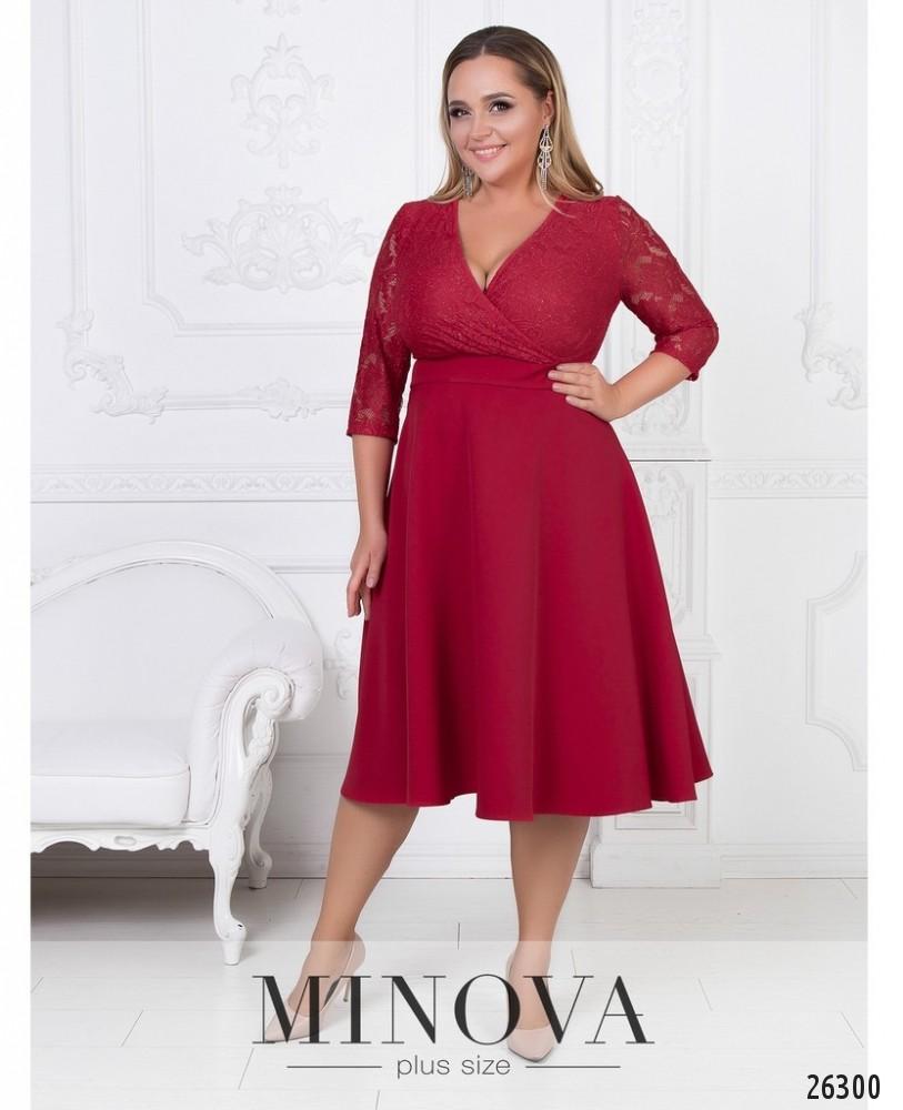 Платье №542-красный