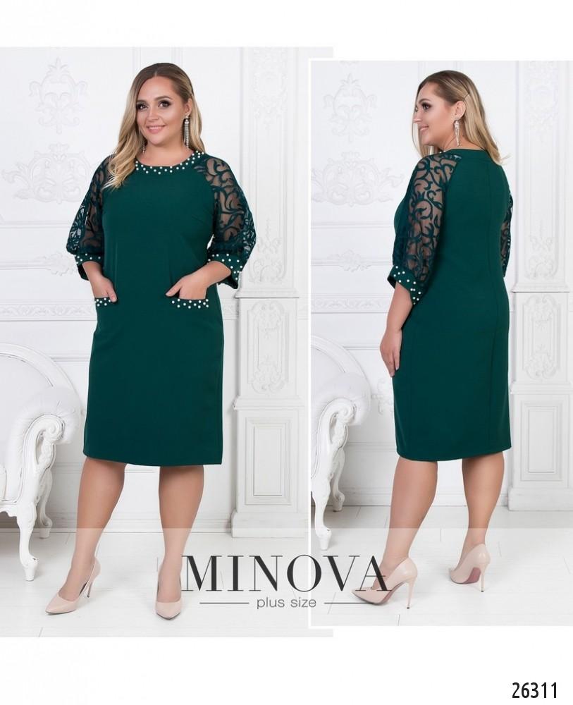 Платье №588-темно-зеленый (sale)