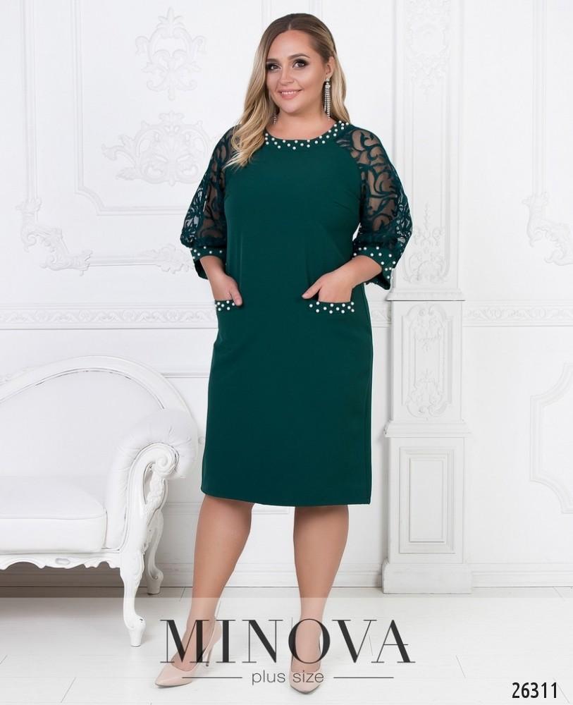 Платье №588-темно-зеленый