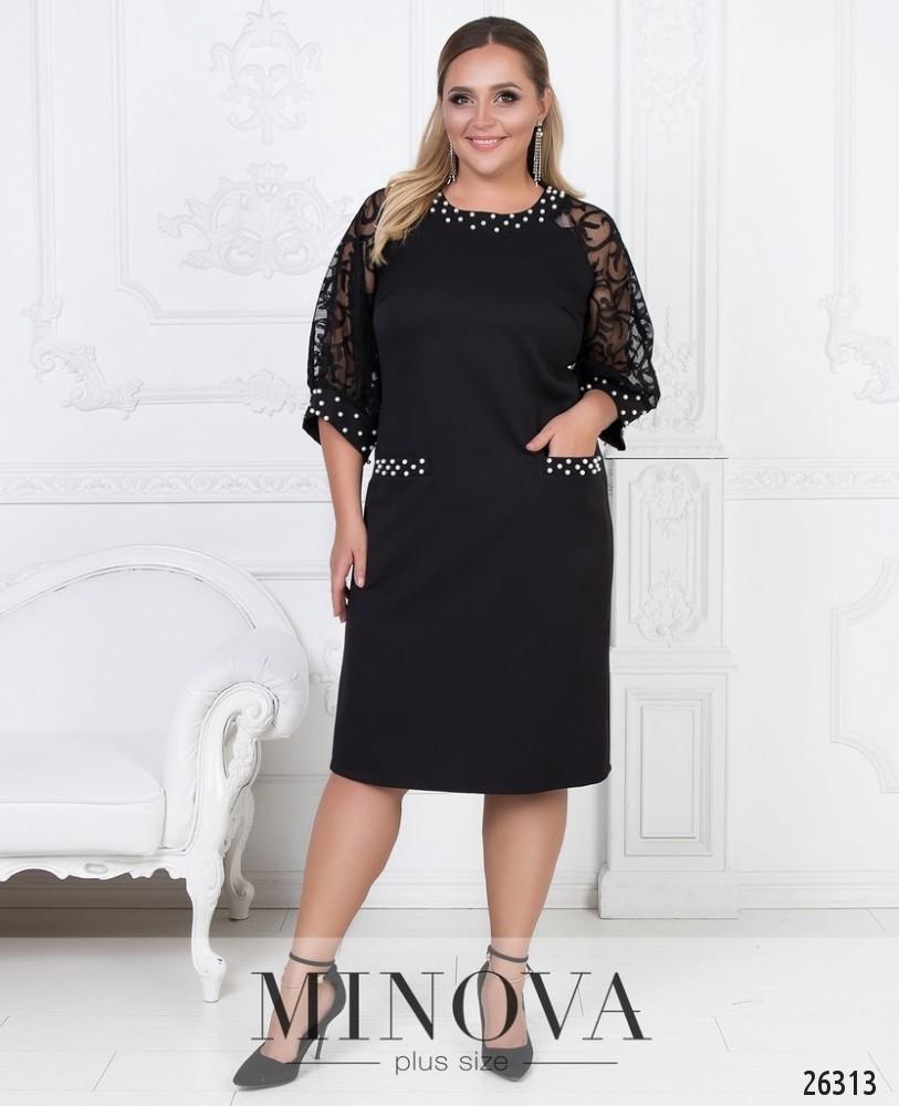 Платье №588-черный