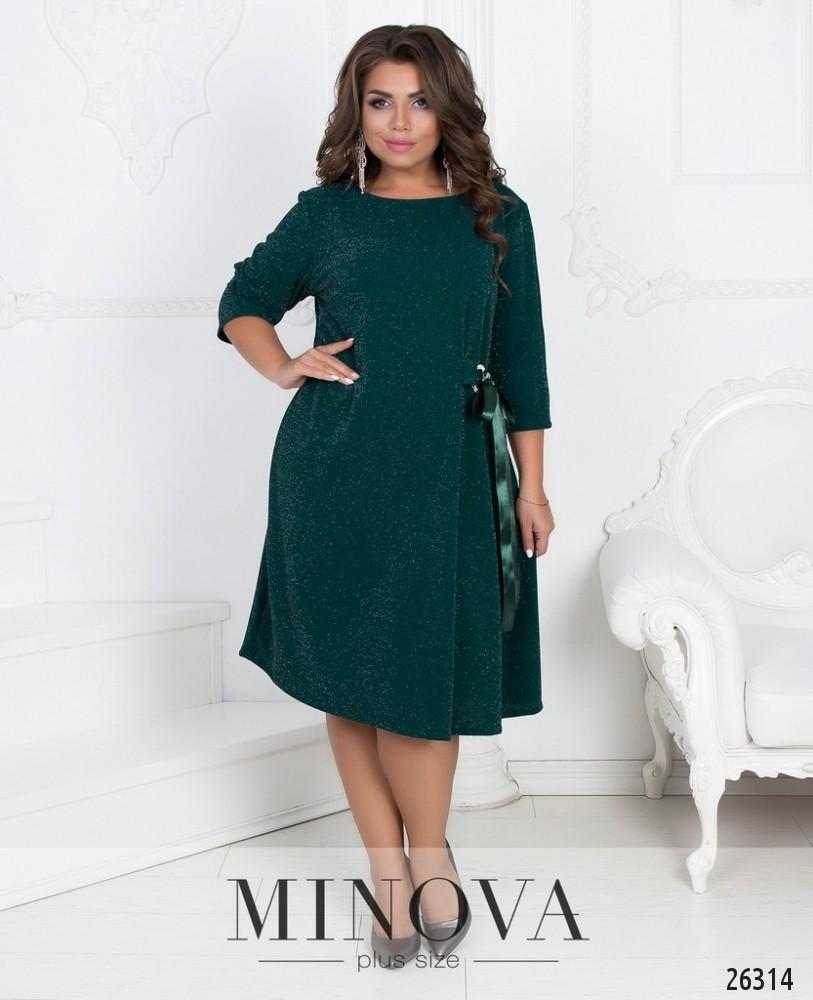 Платье №253-темно-зеленый