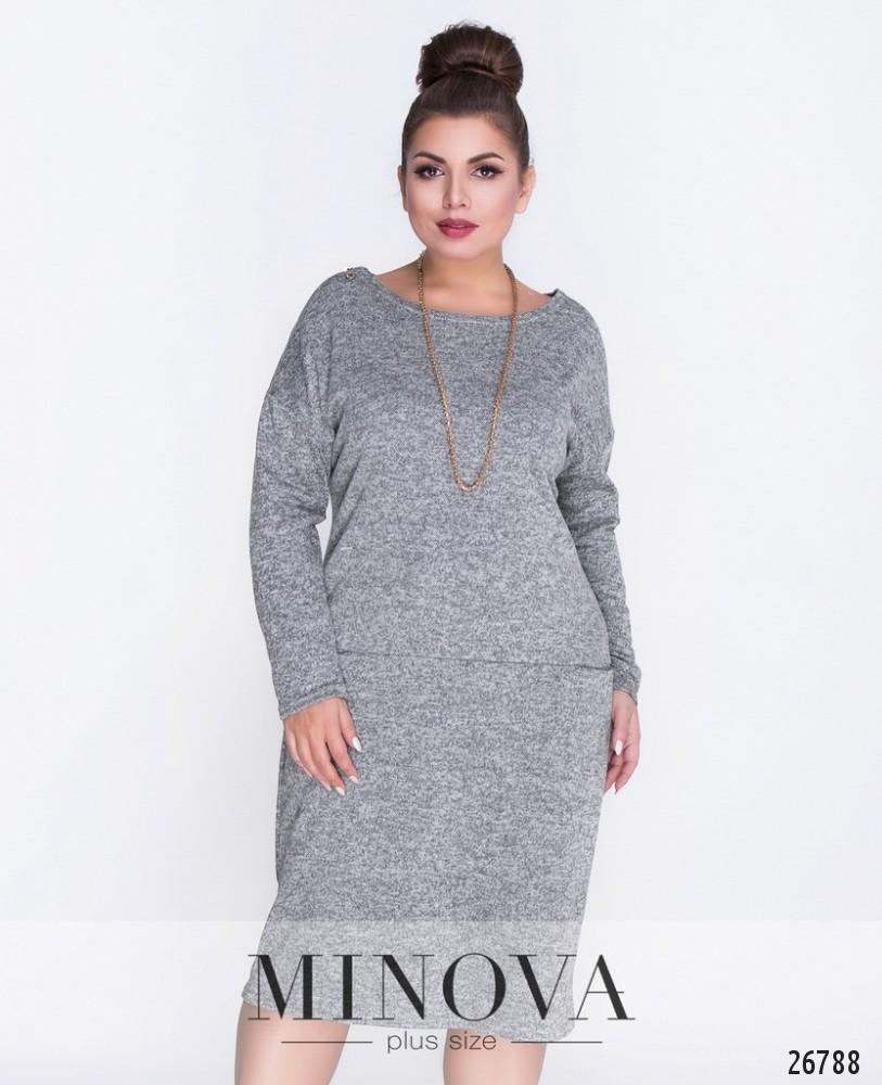 Платье №463А-серый