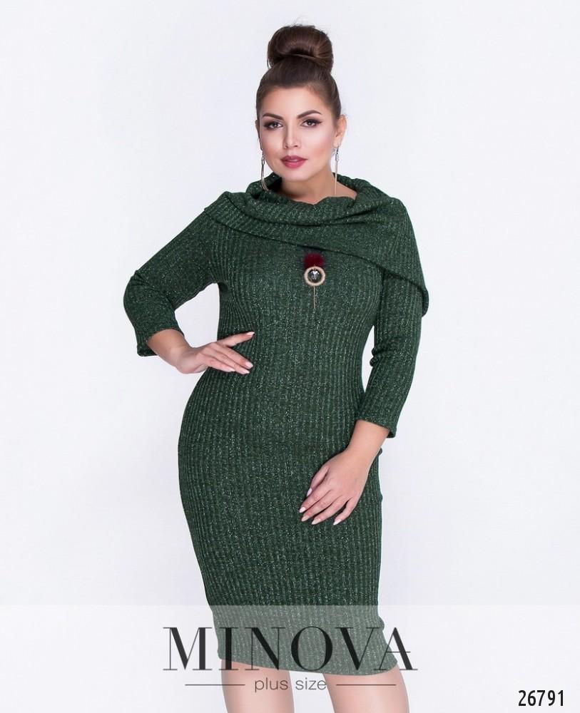 Платье №6080-1-зеленый