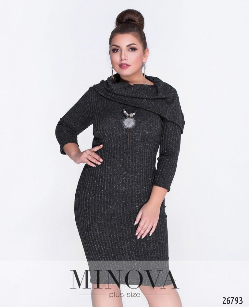 Платье №6080-1-черный