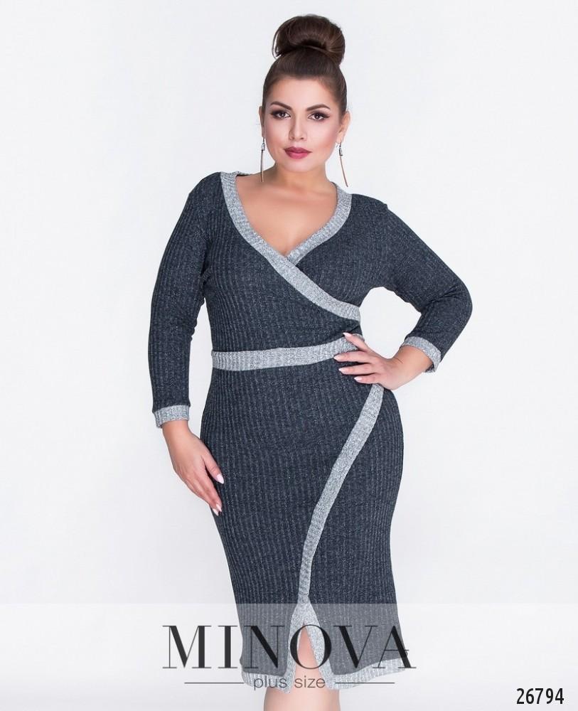 Платье №6086-1-синий