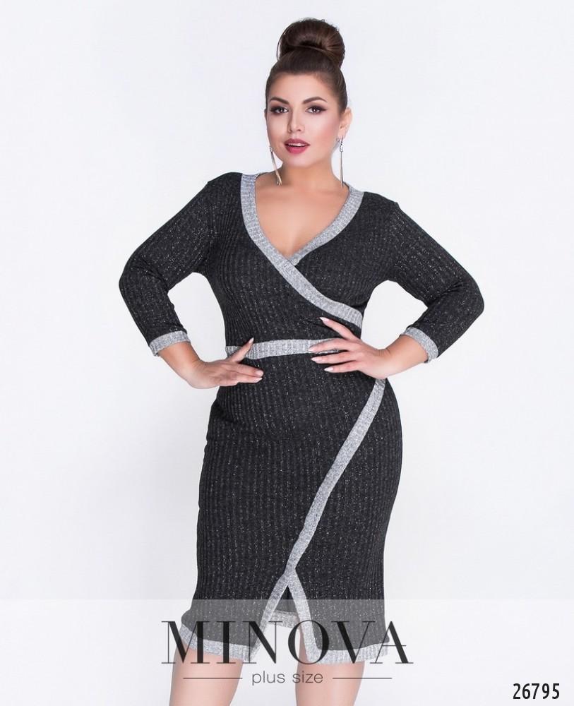 Платье №6086-1-черный
