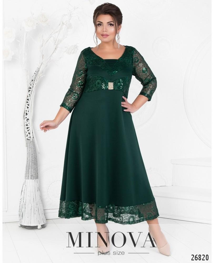 Платье №404-зеленый