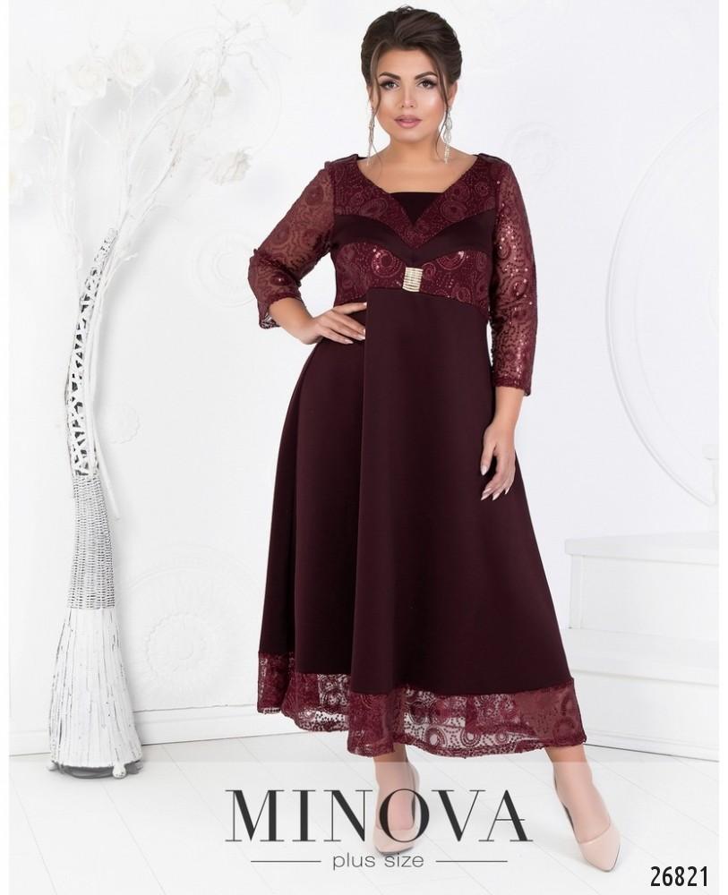 Платье №404-бордо