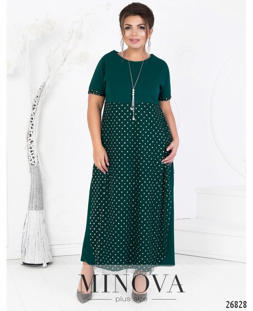 Платье №465А-зеленый