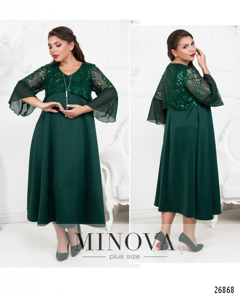 Платье №402-темно-зеленый (sale)