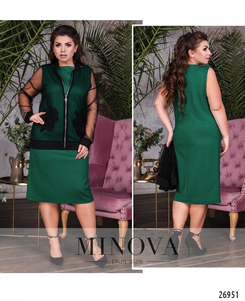 Платье №1615-зеленый
