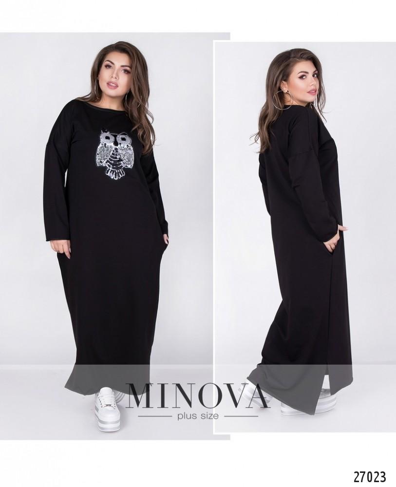 Платье №121-1-черный