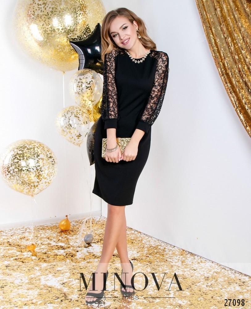 Платье №6111-черный