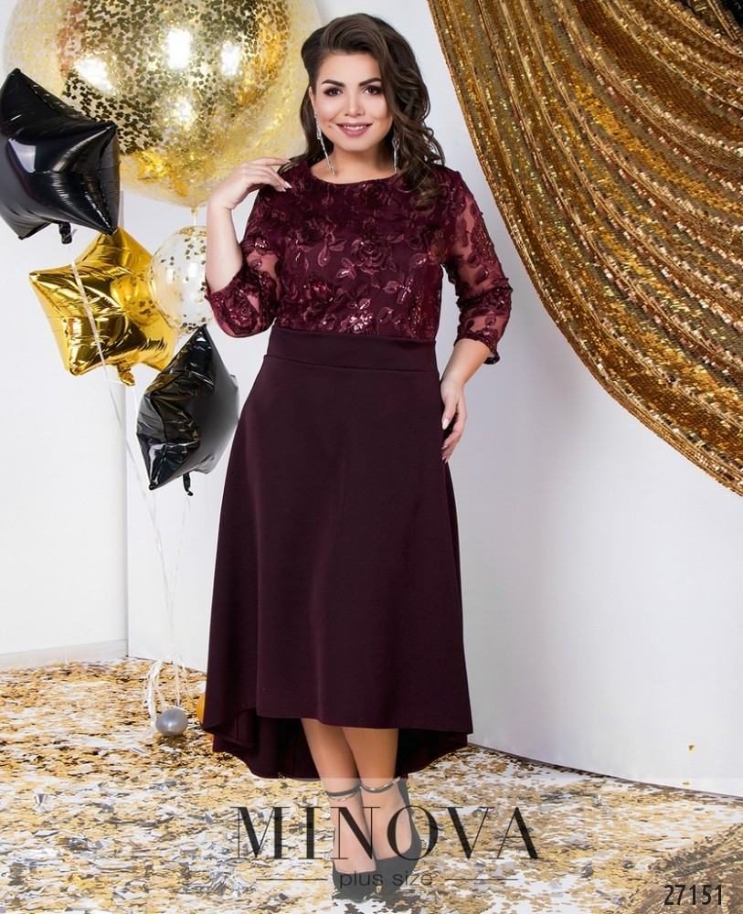 71112cea02d Платье №146-марсала купить оптом и в розницу от производителя размер ...
