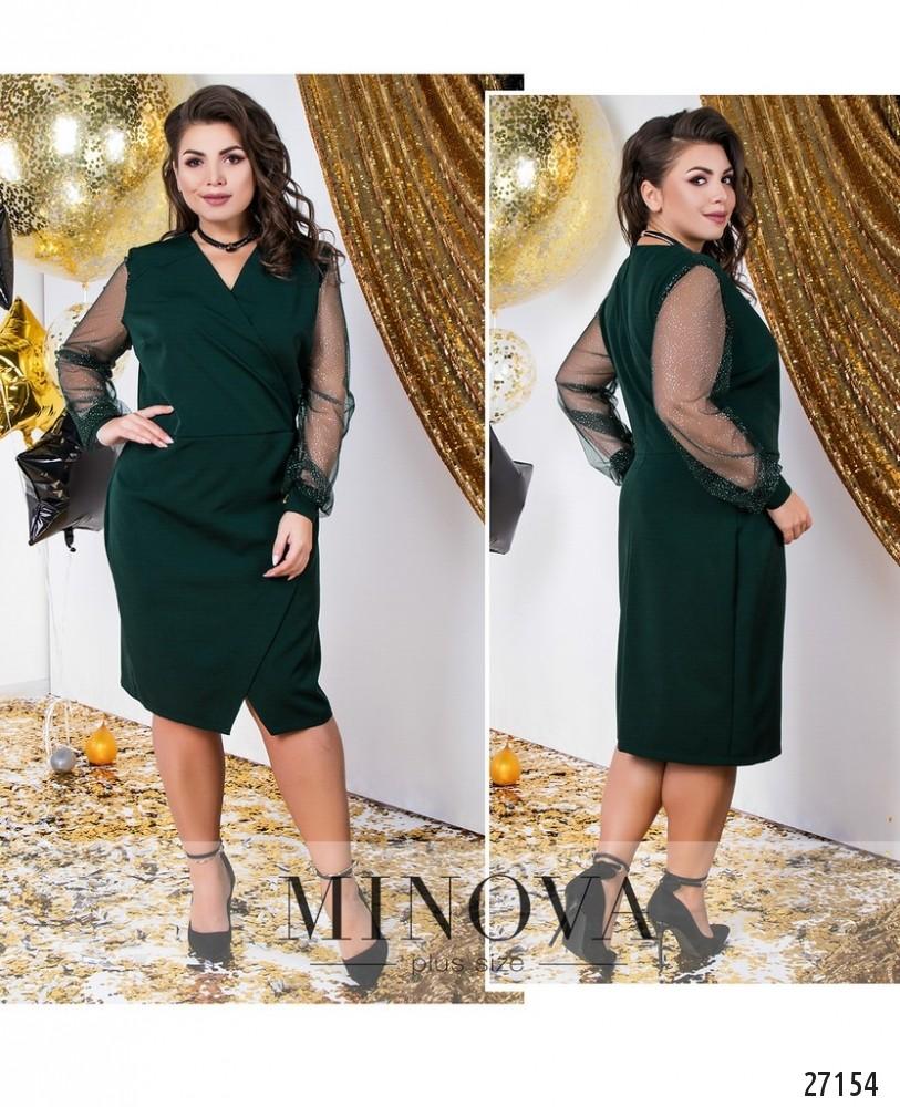 Платье №145-темно-зеленый