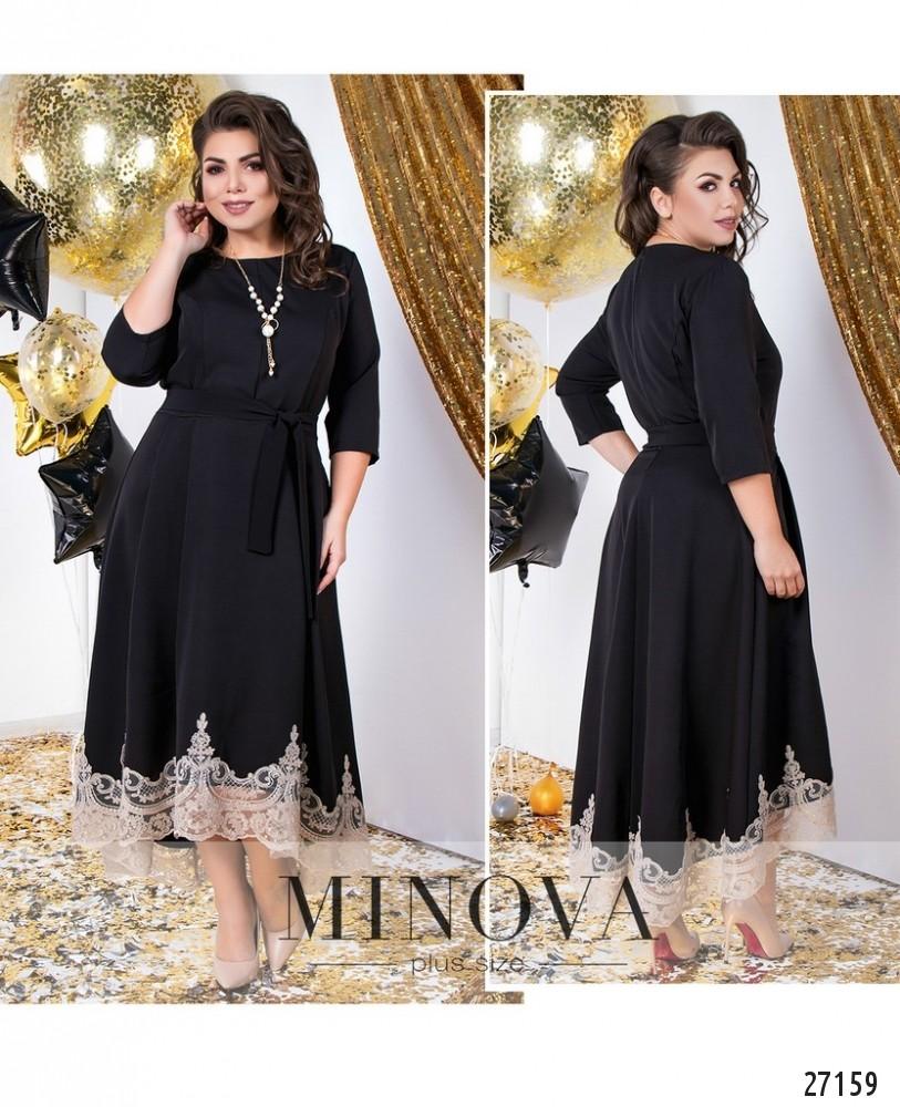 Платье №143-черный-золото