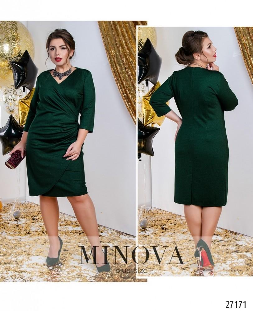 Платье №18-54-темно-зеленый