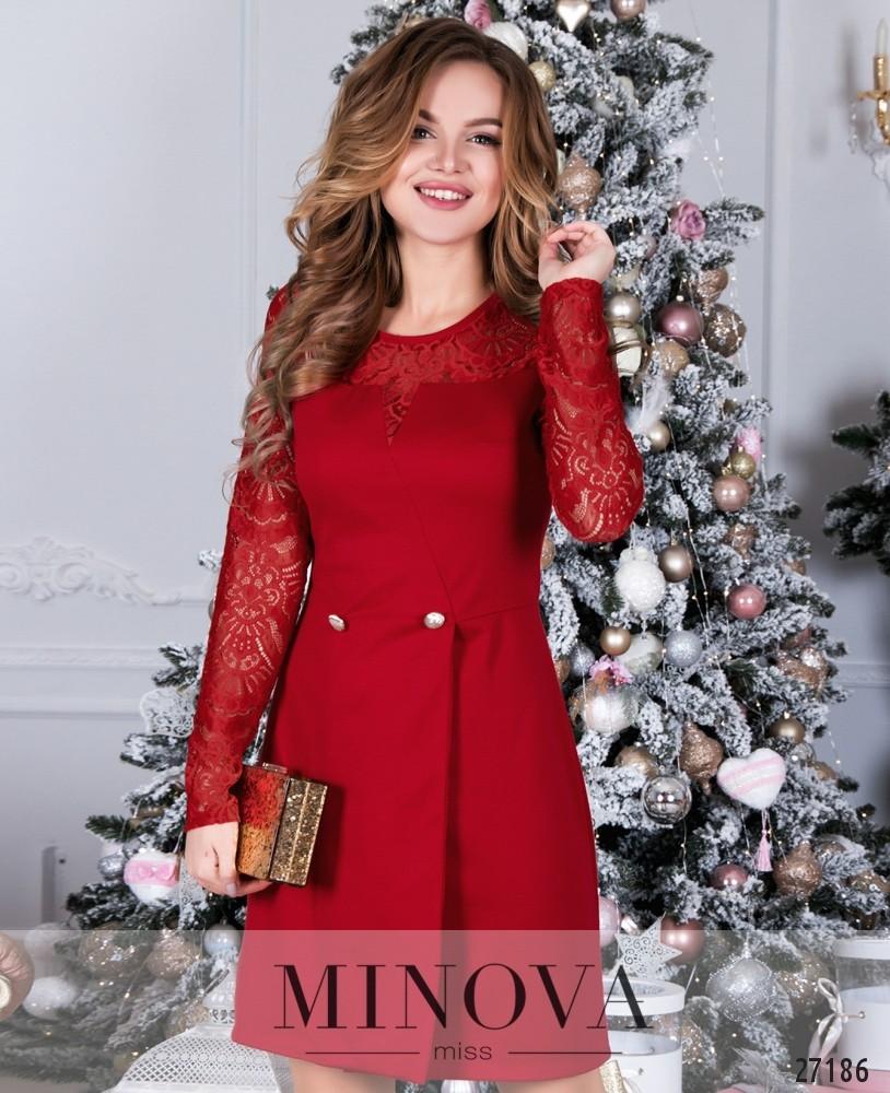 Платье №086-красный