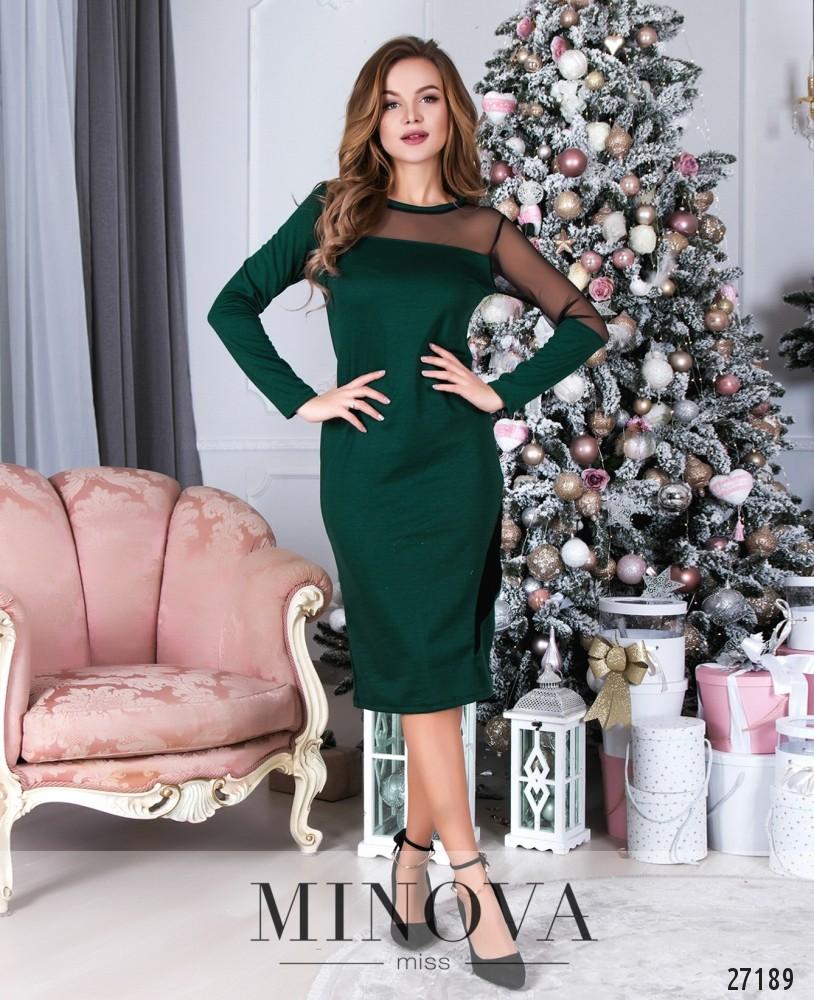 Платье №085-2-зеленый