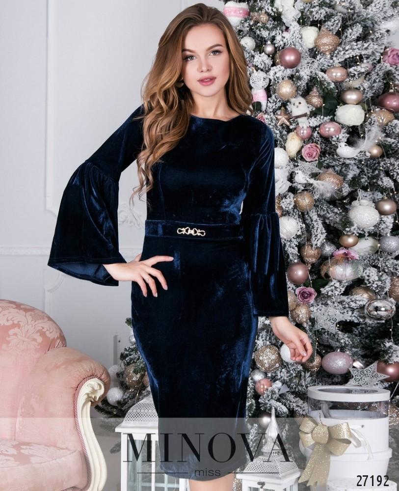 Платье №1617-синий