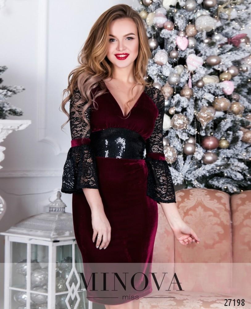 Платье №1621-бордо
