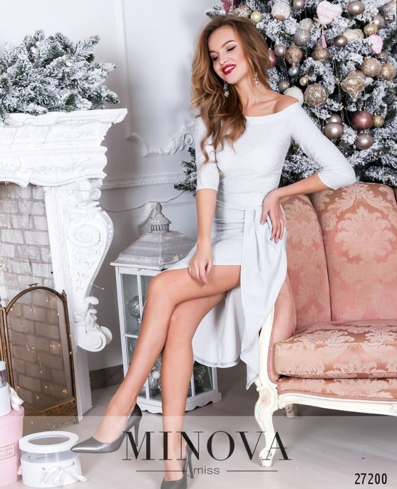 Платье №8598-светло-серый