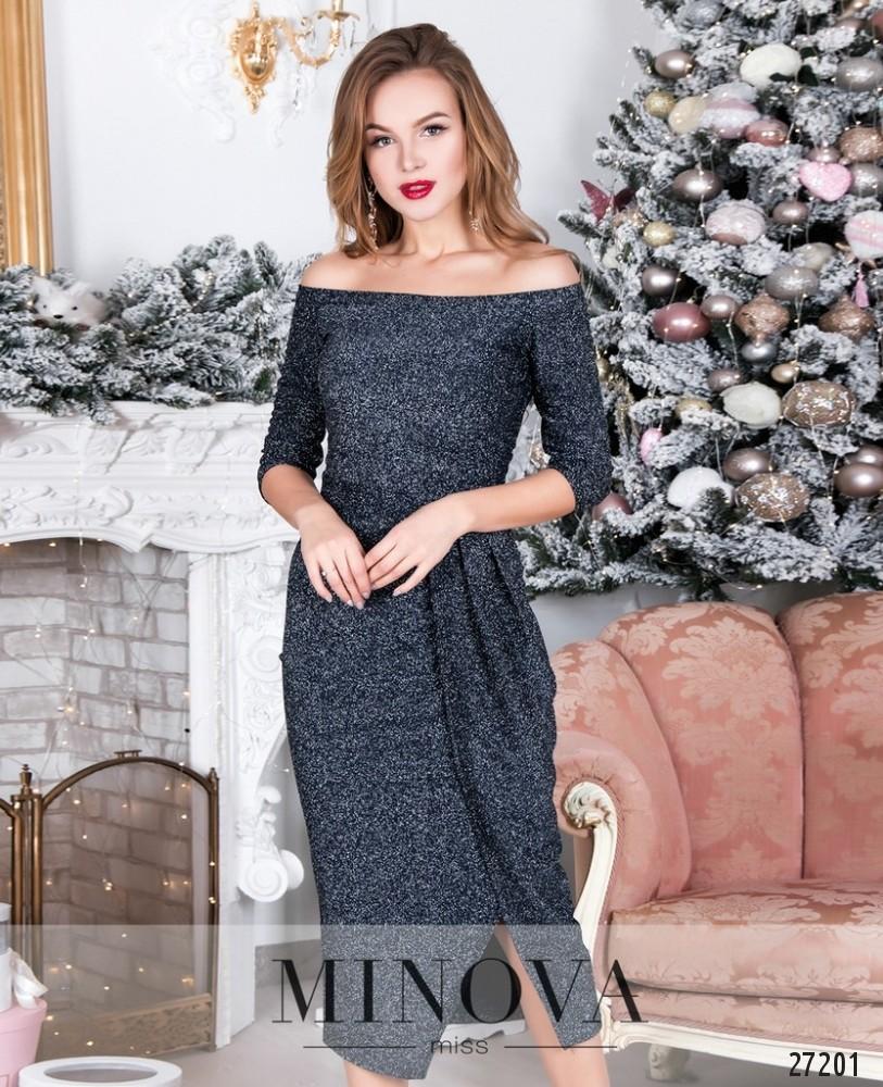 Платье №8598-темно-синий