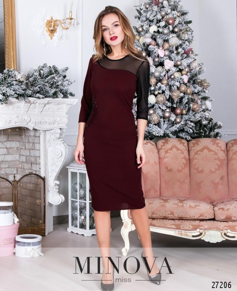 Платье №6118-бордо