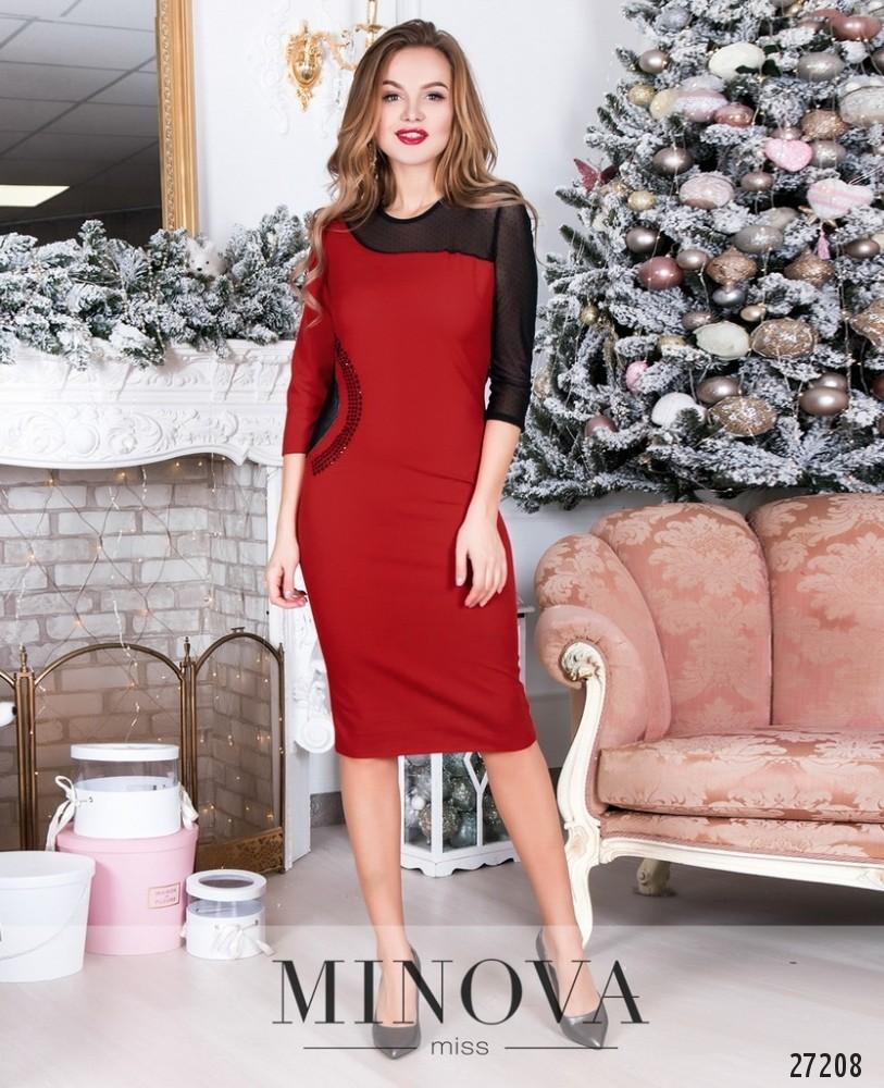 Платье №6118-красный