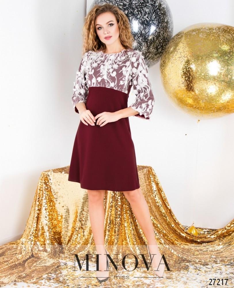 Платье №6121-бордо