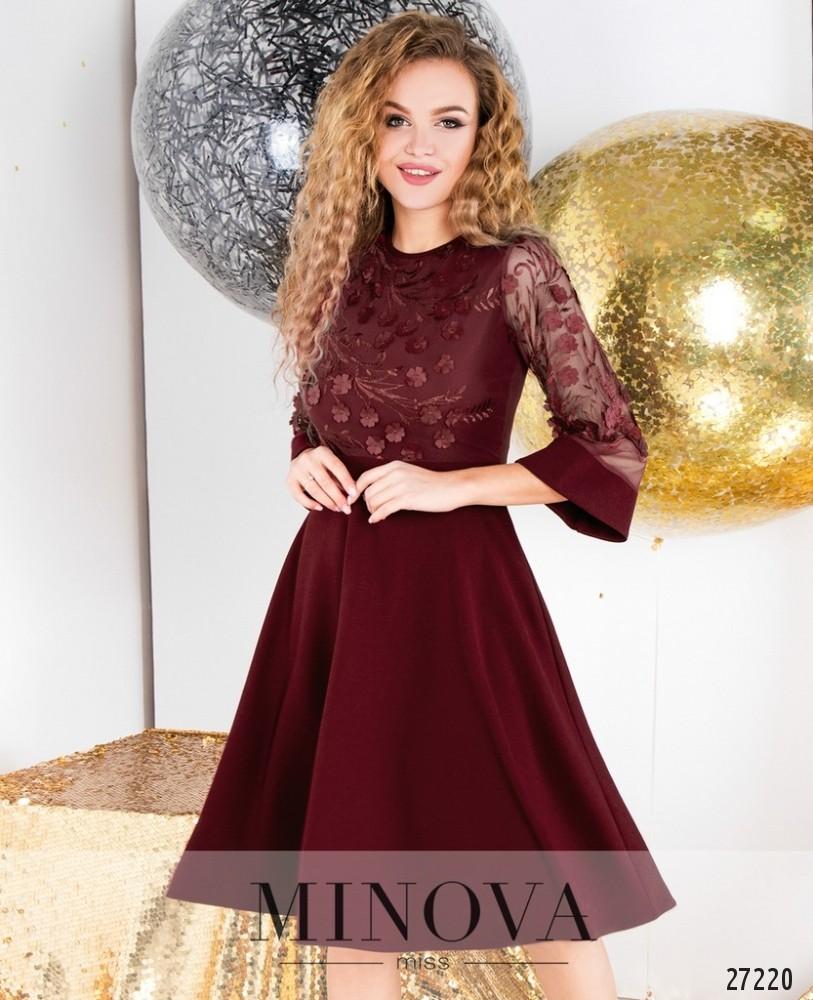 Платье №6108-бордо
