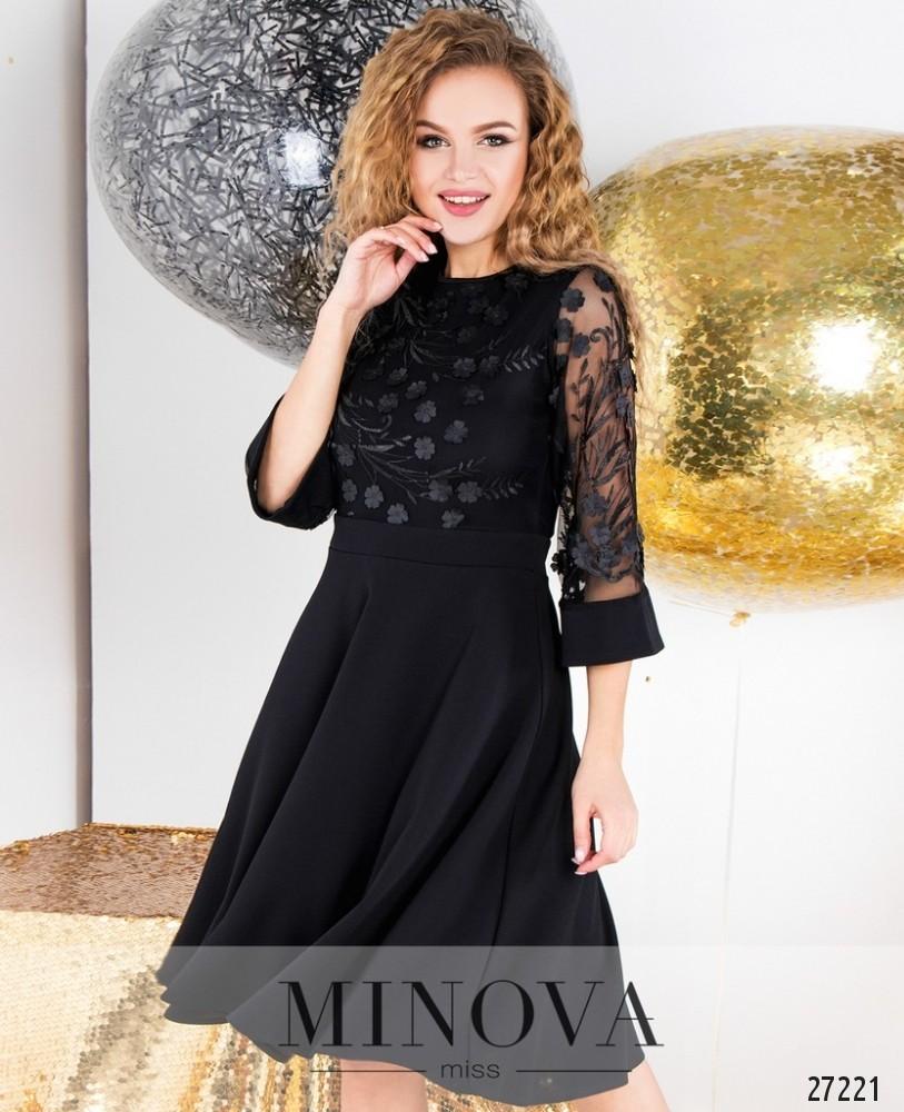 Платье №6108-черный