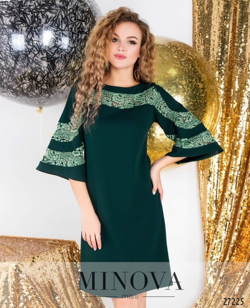 Платье №6097-зеленый