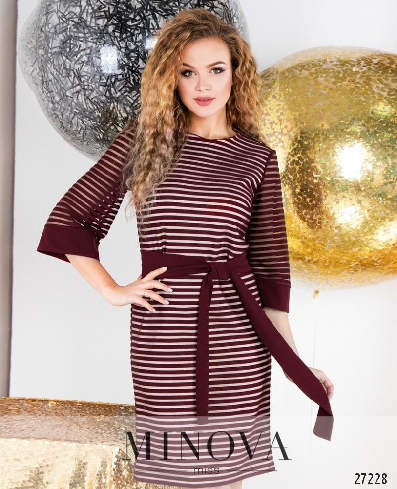 Платье №6126-бордо