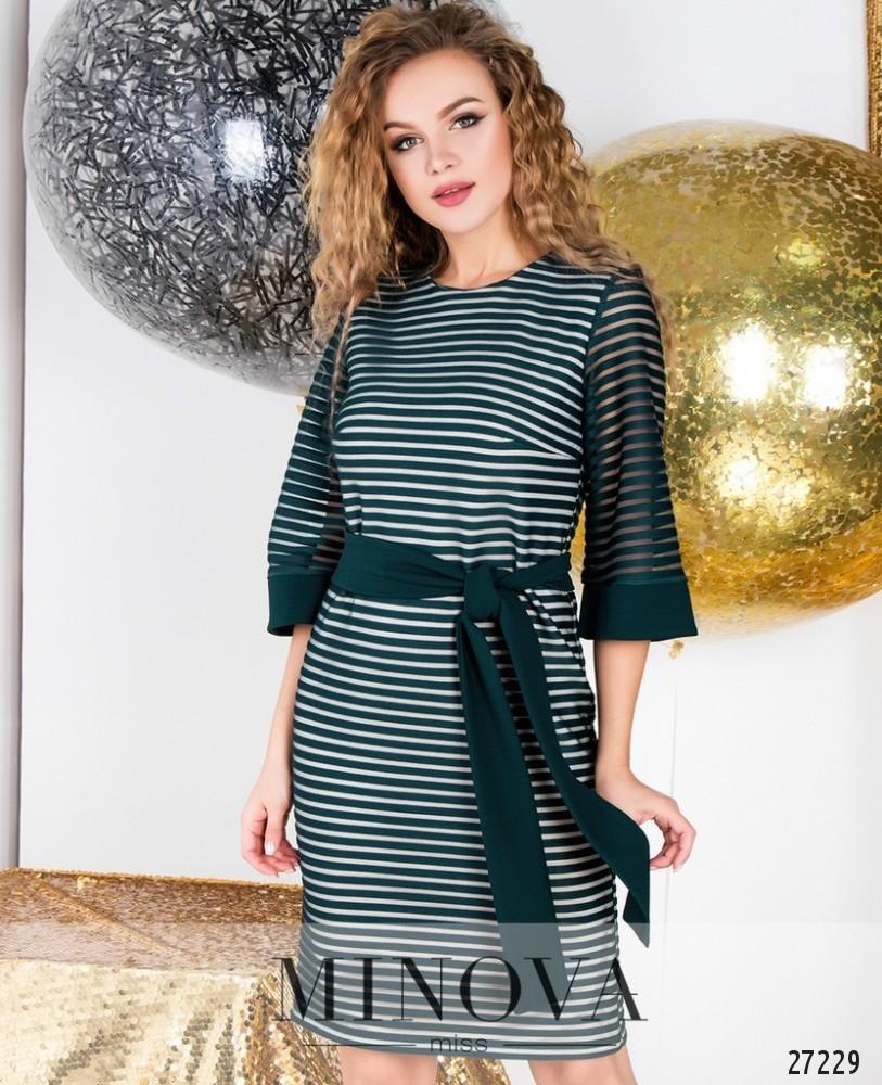Платье №6126-зеленый