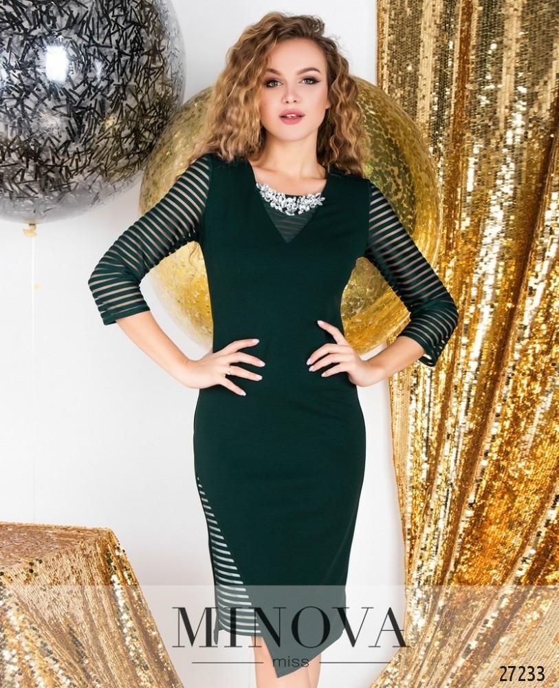 Платье №6125-зеленый н