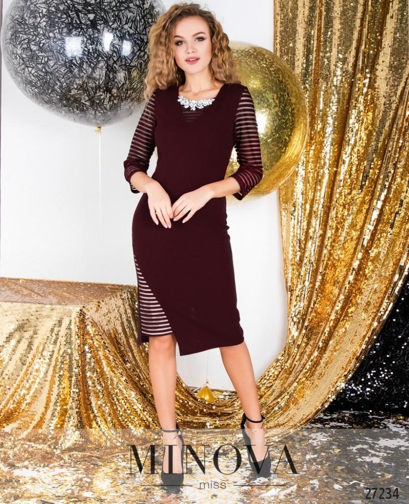 Платье №6125-бордо