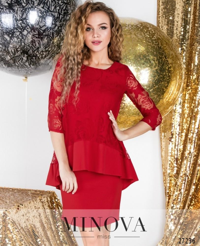 Платье №6116-красный