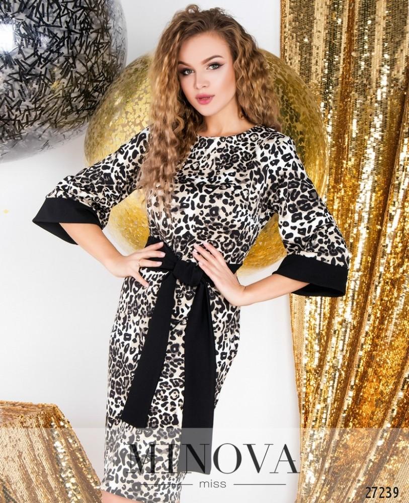 Платье №6124-леопардовый