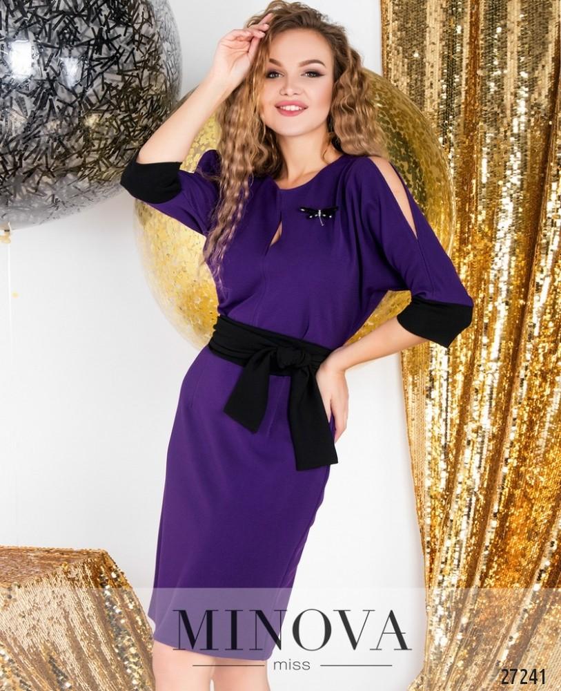Платье №6122-фиолетовый